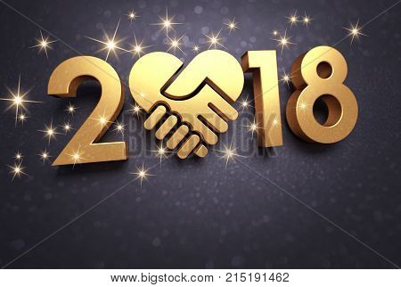Happy New Year 2018 Greeting Card For Sharing
