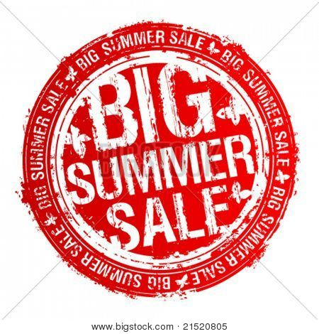 Big summer sale rubber stamp.