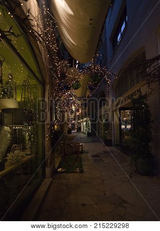 Christmas Holiday Lights In Palma
