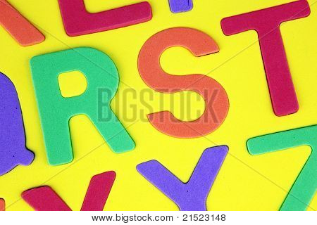 Alphabet background