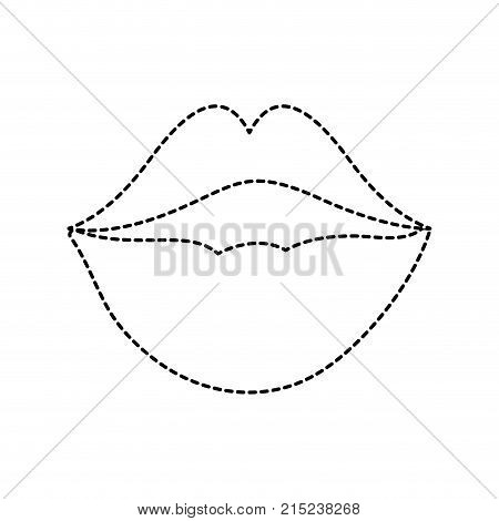Mouth cartoon of kiss caricature and expression theme Isolated design Vector illustration