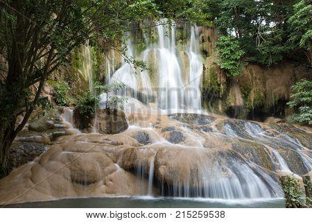 Sam Yok Noi tropical waterfall, Kanchanaburi, Thailand