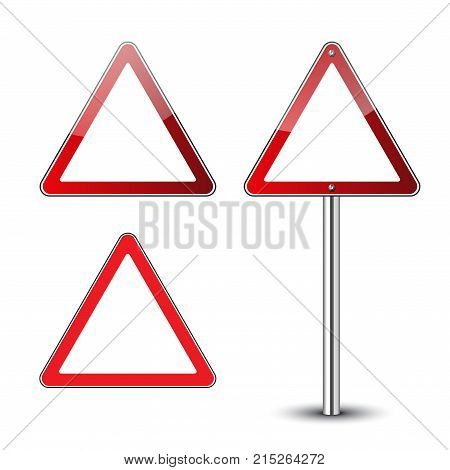 Triangle Road Signs Set