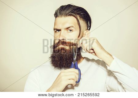 Serious Bearded Man Hipster