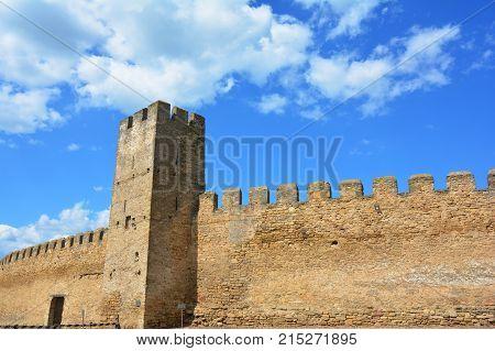 BILGOROD-DNISTROVSKYJ UKRAINE - September 21 2017: Bilhorod-Dnistrovskyi castle or Akkerman fortress architectural monument of XIII-XIV centuries in Ukraine.