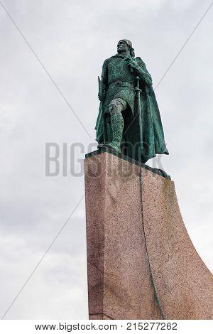 Monument Of Leifur Eiriksson On Skolavorduholt