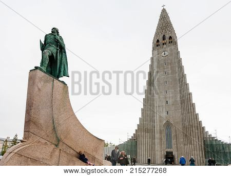 Leifur Eriksson Monument Near Hallgrimskirkja