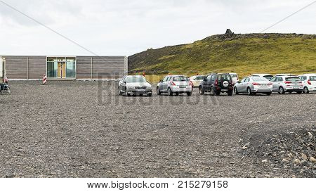 Parking Place On Dyrholaey Peninsula In Iceland