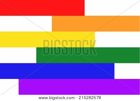 Simple shapes of LGBT community colors. Homosexual background