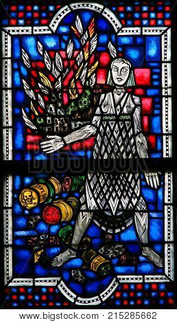 Stained Glass In Worms - Seveso Disaster
