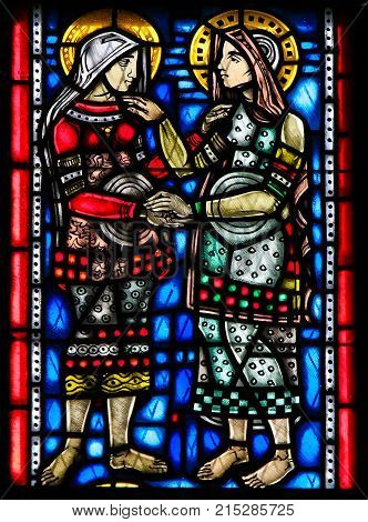 Stained Glass In Worms - Visitation