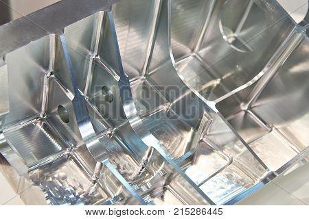 Aluminum Part Machined On Cnc Machine