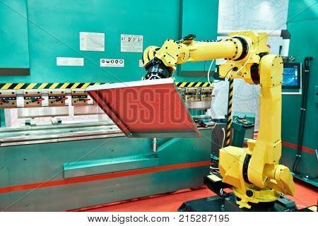 The standard universal industrial robot with part
