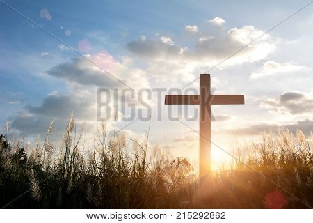 Crucifixion Of Jesus Christ,Religious cross silhouette against a bight sunrise skythings network,smart factory solution
