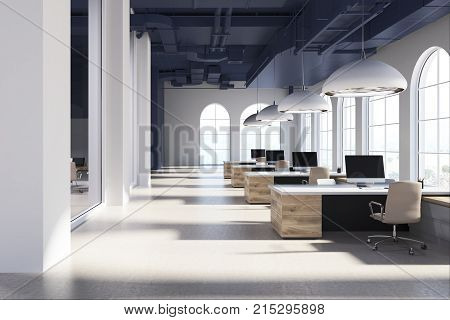 White Office, Wooden Tables