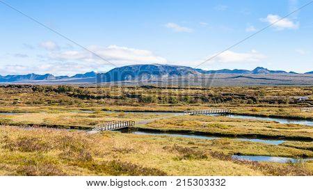 Silfra Fissure In Rift Valley Of Thingvellir Park