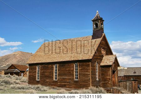 The Abandoned Church In The Ghost Town Of Bodie - California
