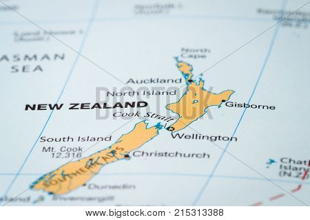 New Zealand On  A Map