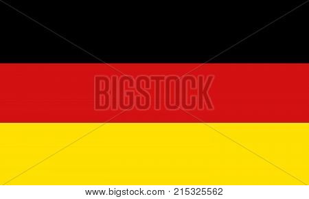 National symbol of Germany. Germany flag, official colors and proportion correctly. National flag. Vector illustration.