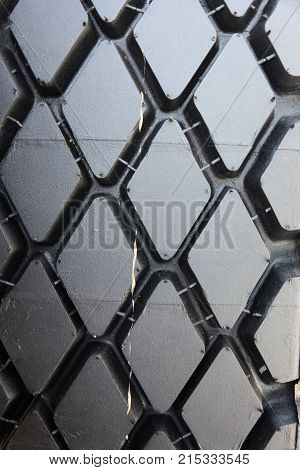 The Tread tires black closeup a background