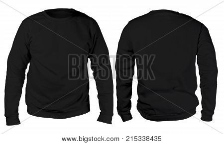 Black Sweater Long Sleeved Shirt Mockup Template