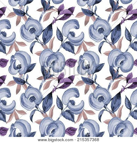 Wildflower cornos Florida flower pattern in a watercolor style. Full name of the plant: cornos. Aquarelle wild flower for background, texture, wrapper pattern, frame or border. poster