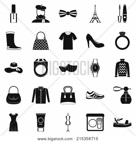Mode icons set. Simple set of 25 mode vector icons for web isolated on white background
