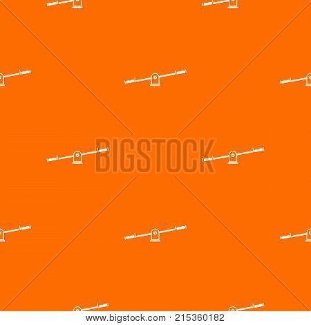 Seesaw pattern repeat seamless in orange color for any design. Vector geometric illustration
