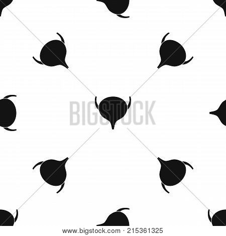 Bladder pattern repeat seamless in black color for any design. Vector geometric illustration