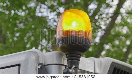 Light signal on special equipment orange light siren