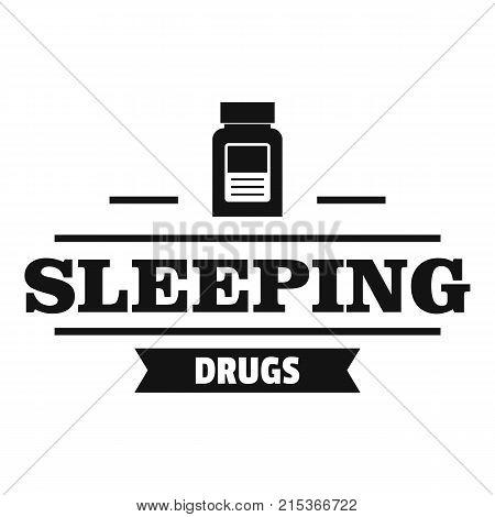 Sleeping pill logo. Simple illustration of sleeping pill vector logo for web