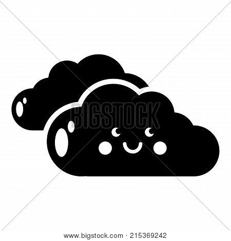 KInd cloud icon. Simple illustration of kInd cloud vector icon for web