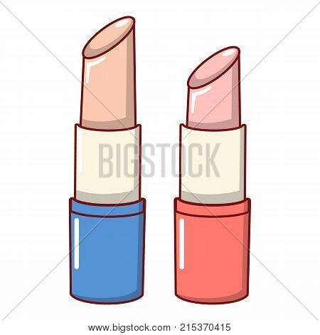 Lipstick icon. Cartoon illustration of lipstick vector icon for web