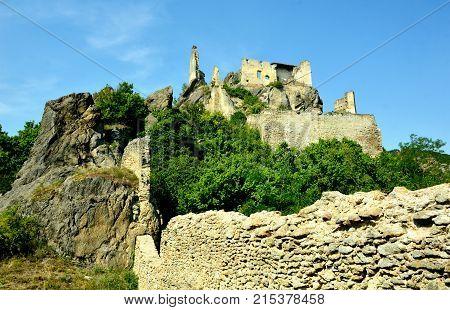 Dürnstein Castle in the Wachau  Krems Austria