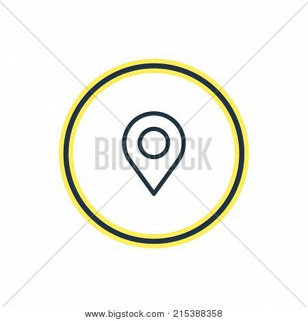 Vector Illustration Of Position Outline. Beautiful Contact Element Also Can Be Used As Pinpoint Element.