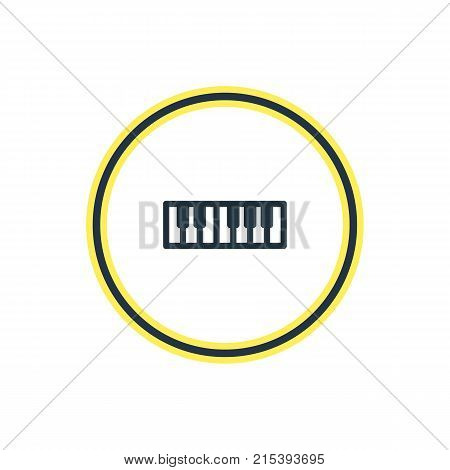 Vector Illustration Of Piano Outline. Beautiful Entertainment Element Also Can Be Used As Synthesizer Element.