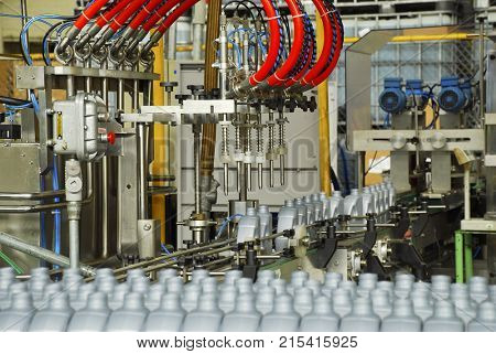 Industrial plant of automotive lubricant factory