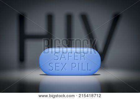 3d illustration of a safer sex pill
