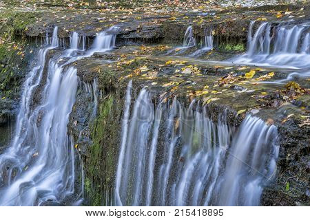 detail of Jackson Falls at Natchez Trace Parkway, fall scenery