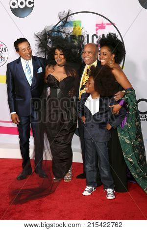 LOS ANGELES - NOV 19:  Smokey Robinson, Diana Ross, Berry Gordy, Rhonda Ross Kendrick at the American Music Awards 2017 at Microsoft Theater on November 19, 2017 in Los Angeles, CA