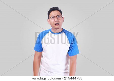 Asian Man Upset Shocked With Mouth Open