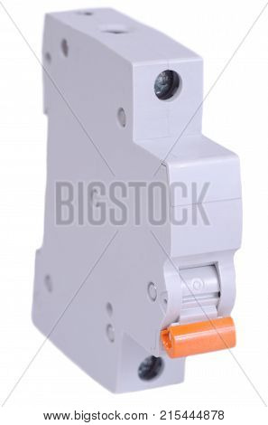 Single-pole circuit breaker on isolated white background.