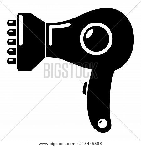 Hair dryer icon. Simple illustration of hair dryer vector icon for web