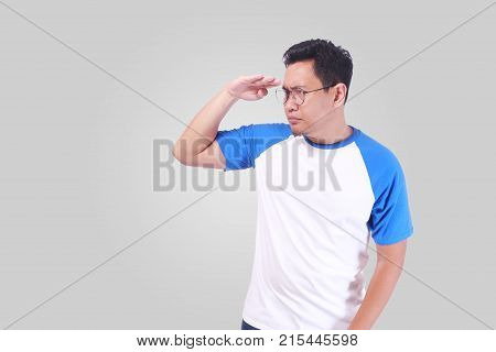Man Staaring And Looking Far Away