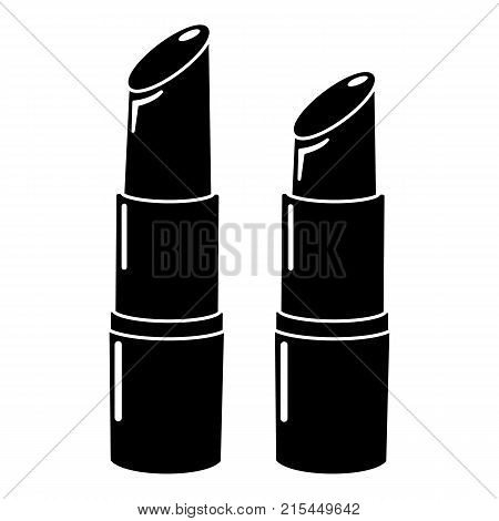 Lipstick icon. Simple illustration of lipstick vector icon for web