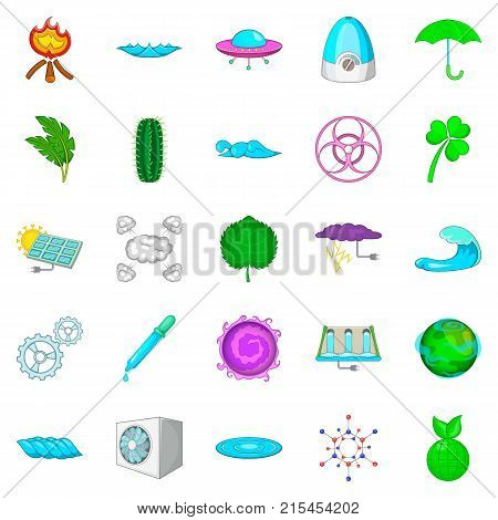 Might icons set. Cartoon set of 25 might vector icons for web isolated on white background
