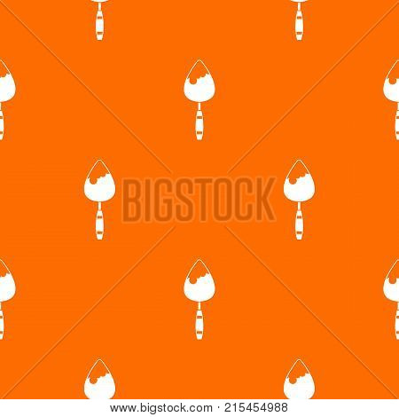 Construction trowel pattern repeat seamless in orange color for any design. Vector geometric illustration