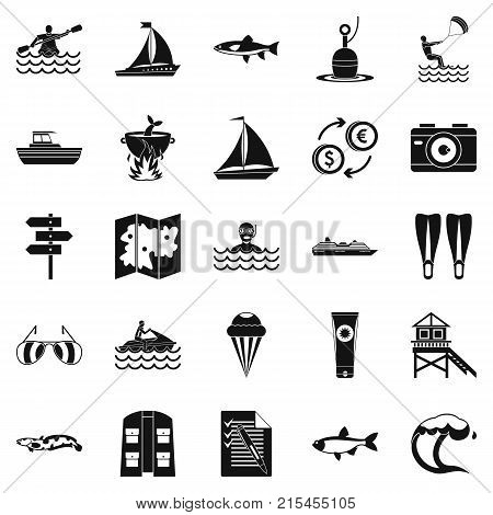 Water spot icons set. Simple set of 25 water spot vector icons for web isolated on white background