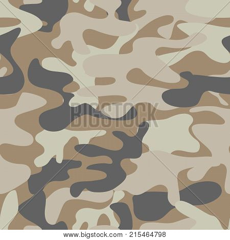 Fashion camouflage pattern, vector illustration.Millatry print .Seamless vector wallpaper. Colorful camouflage pattern background seamless vector illustration. Camo seamless pattern vector.