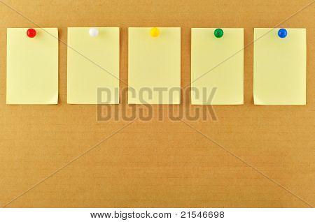 Blank Sticky Notes Pinned